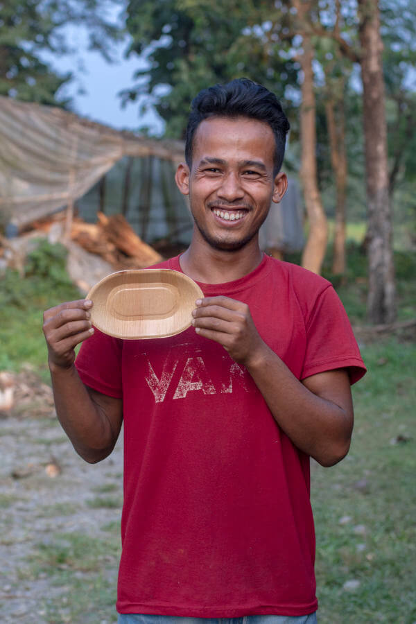 Pommesschale Hari - 18,5cm incl. 1 Pickser für 140g Pommes
