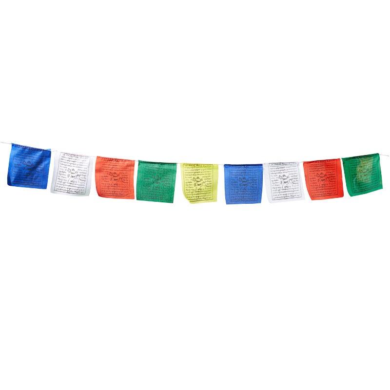 Tibetische Gebetsfahnen ca. 1,5 m / 10 Fähnchen